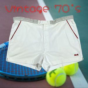 Vintage Le Tigre mini Tennis shorts 1970's 38